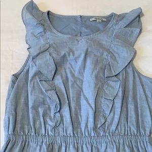 Madewell Dresses - Madewell chambray ruffle front dress